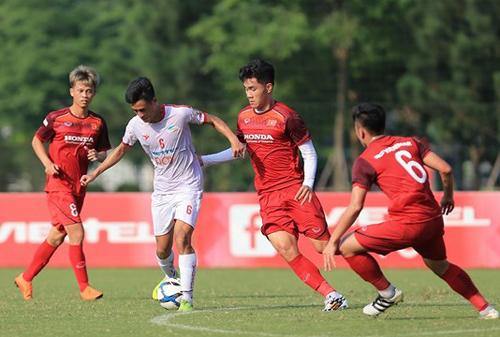 U23 Việt Nam trong trận hoà 0-0 với CLB Viettel chiều 4/6.