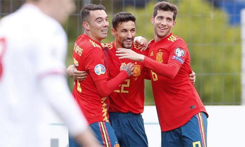 Tây Ban Nha toàn thắng ở vòng loại Euro 2020