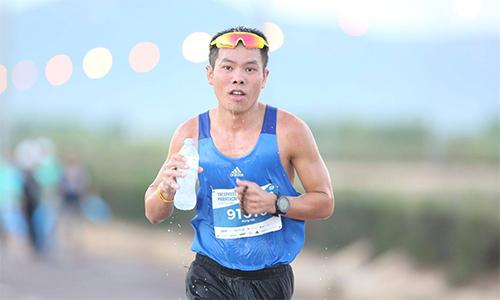 Hùng Hải về đích thứ bảy ở cự ly 42km, với thời gian 2 giờ 58 phút 42 giây.