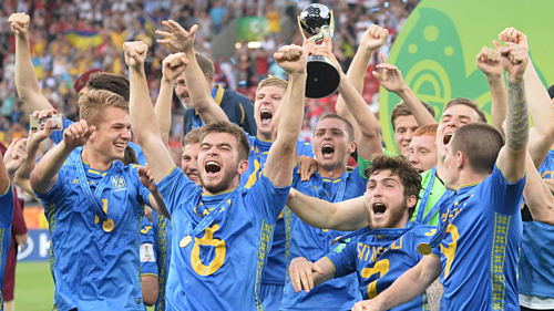 Ukraina lần đầu lên ngôi giải đấu danh giá cho lứa trẻ. Ảnh:FIFA.