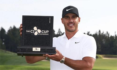 Brooks Koepka vô địch CJ Cup 2018 với cách biệt bốn gậy. Ảnh: Golfweek.