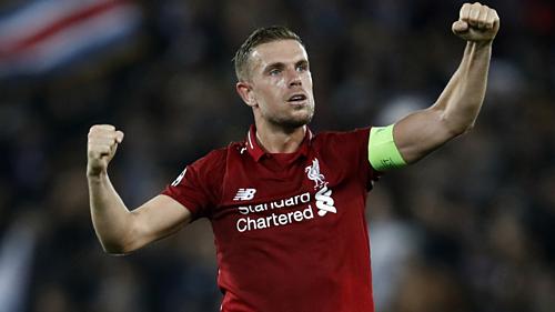 Henderson thể hiện tốt vai trò thủ lĩnh ở Liverpool. Ảnh: Reuters.