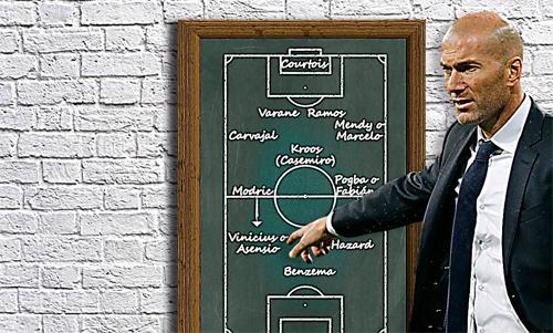 Zidane có thể áp dụng sơ đồ 4-3-2-1 từ mùa tới.