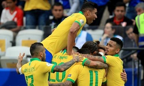 Brazil cùng với Colombia là hai đội chưa để lọt lưới tại Copa America 2019. Ảnh: AFP.