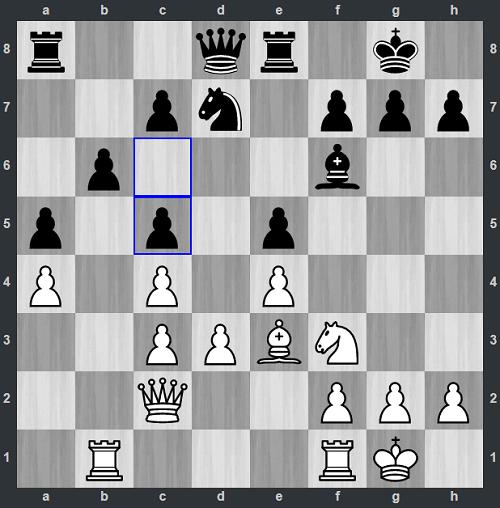 Quang Liêm muốn đẩy tốt d4 đẩy tốt d4, nhưngsau 17...c5, Trắng không còn cơ hội tấn công trung tâm. Anh chuyển hướng sang tấn công thành của Đen với g3, Ne1, f4 rồi f5.