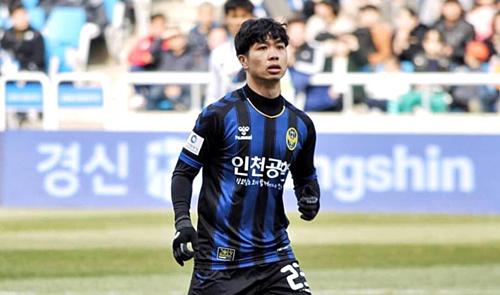 Công Phượng trong màu áo Incheon nửa đầu mùa giải K-League 2019.
