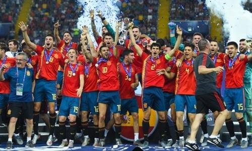 Tây Ban Nha lần thứ năm vô địch U21 châu Âu. Ảnh: Reuters.