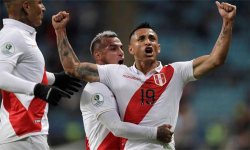 Peru từng thua Brazil 0-5 ở vòng bảng. Ảnh: AS.