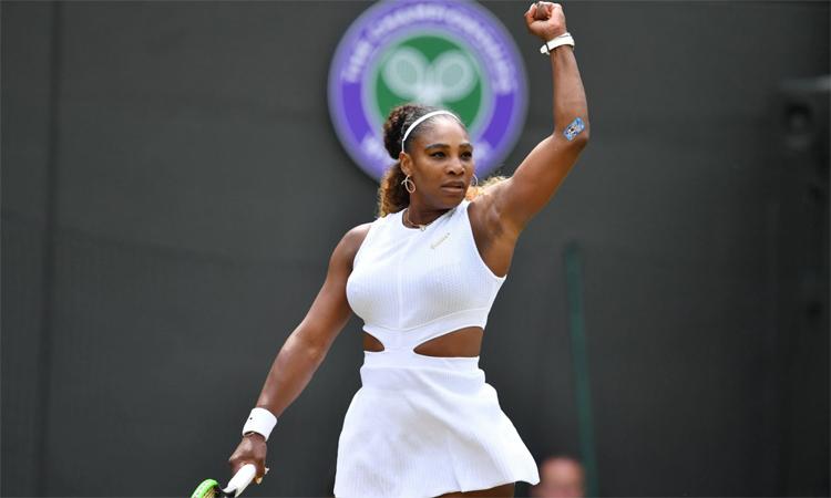 Serena Williams kiếm được ít nhất 367 nghìn đôla khi giành vé vào tứ kết Wimbledon 2019. Ảnh: AFP.