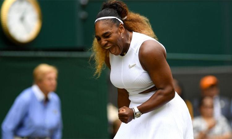Serena có 49 điểm winner và 27 lỗi tự đánh hỏng cả trận. Ảnh: Sky.