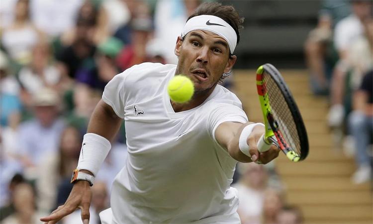 Nadal không phải đối mặt với break-point ở hai vòng gần nhất. Ảnh: AP.