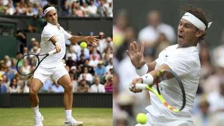 Trận chung kết Wimbledon 2008 giữa Federer (trái) và Nadal dài bốn giờ 48 phút. Ảnh: MSN.