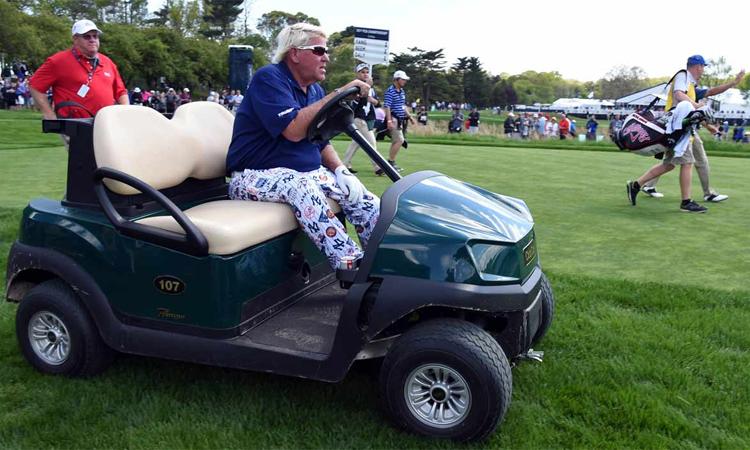 Daly là golfer thứ hai dùng xe điện tại major trong thập kỷ qua, sau Casey Martin năm 2012. Ảnh: Golf.com.