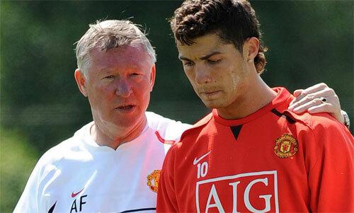 Ronaldo thi đấu kém hiệu quả trong những năm đầu chơi cho Man Utd. Ảnh: Reuters