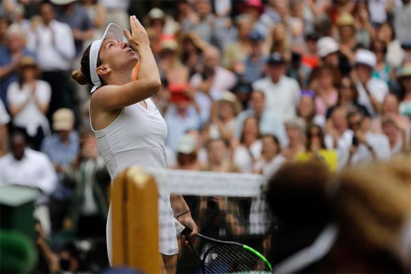 Simona chơi thứ tennis hay nhất của cô từ đầu giải.
