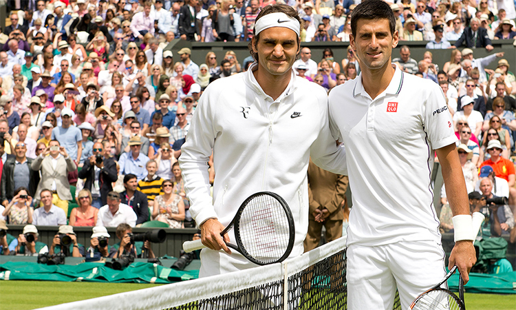 Djokovic đang áp đảo Federer tại Grand Slam