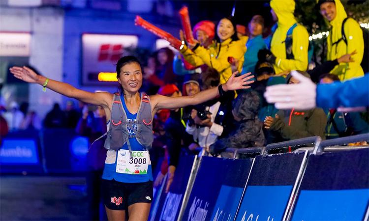 Yao về nhất ở UTMB năm ngoái. Ảnh: Runners World.