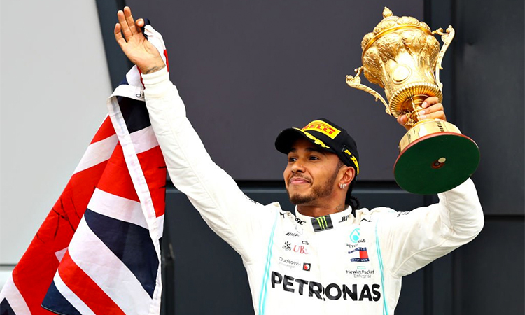 Hamilton đã có bảy chiến thắng qua 10 chặng đã đua của mùa giải F1 2019.