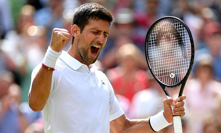Djokovic đang có đối đầu tốt hơn Federer (26 thắng - 22 thua) và Nadal (28 thắng - 26 thua). Ảnh: ATP.