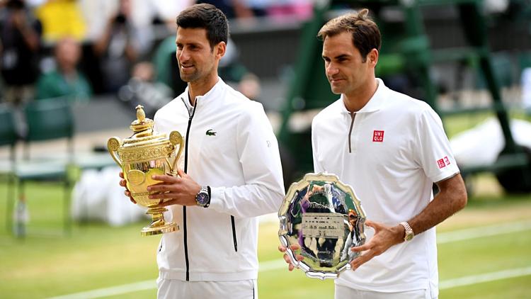 Djokovic (trái)sẽ tập trung chinh phục các giải Grand Slam trong thời gian tới. Ảnh: ATP.