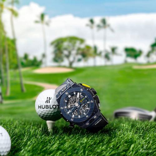 Chiếc đồng hồ cơ khíHublot Big Bang Golf Blue Carbon dành cho bộ môn golf.