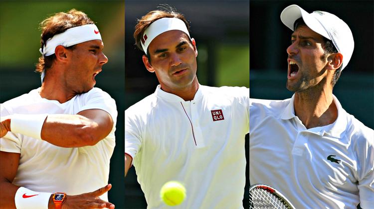 Nadal và Djokovic đều trẻ hơn Federer và chưa có dấu hiệu sa sút. Ảnh: Essentially Sports.