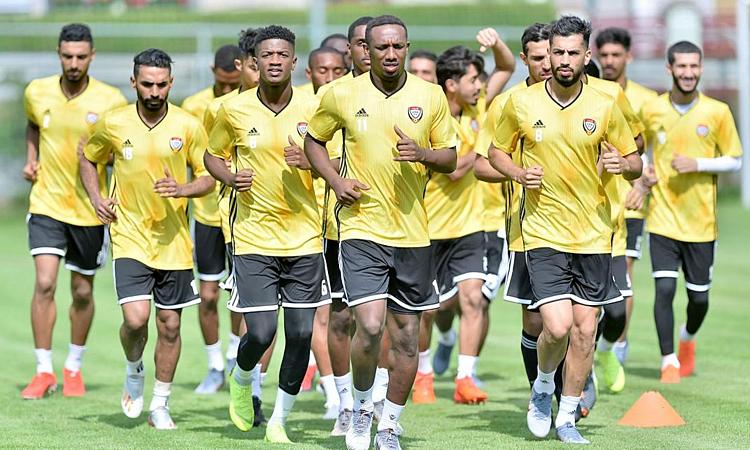 Đội tuyển UAE tập huấn ở Áo một tuần từ 15/7 đến 22/7. Ảnh: UAEFA.