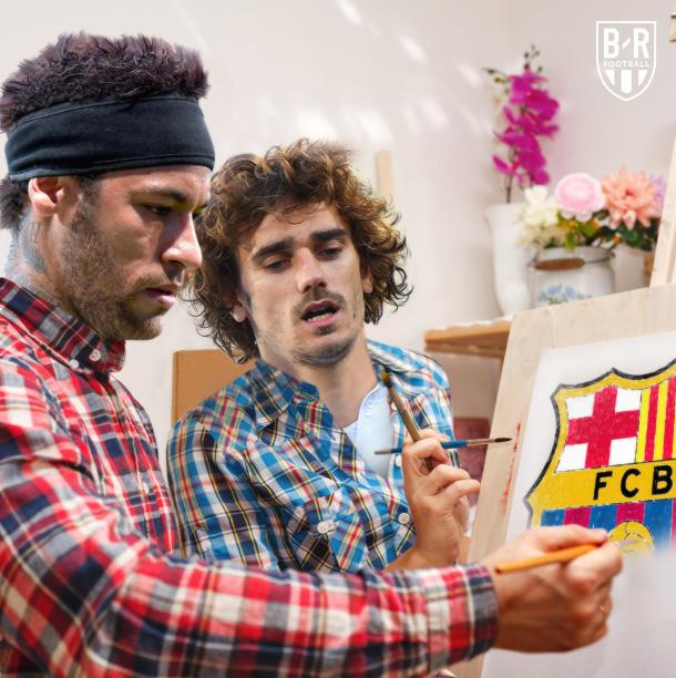 Neymar và Griezmann đều biểu tình, không tập trung cùng CLB để đòi ra đi trong hè này. Nhưng mới Griezmann toại nguyện đầu quân cho Barca. Ảnh: Bleacher Report.