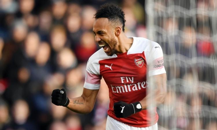 Aubameyang là cầu thủ đắt giá nhất lịch sử Arsenal. Ảnh: PA.