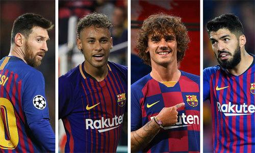 Sự có mặt của Griezmann khiến Neymar khó lòng trở lại.