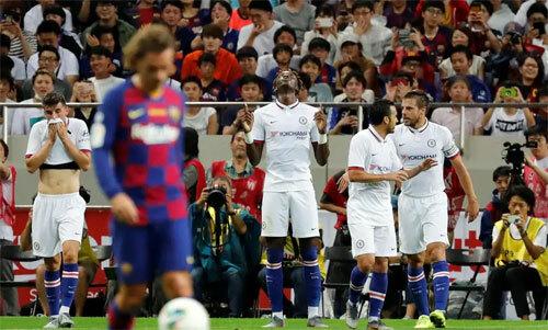Griezmann chưa để lại dấu ấn trong trận ra mắt. Ảnh: Reuters