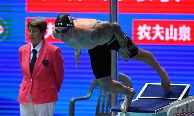 Adam Peaty xuất phát ở nội dung 100m ếch. Ảnh: AFP.