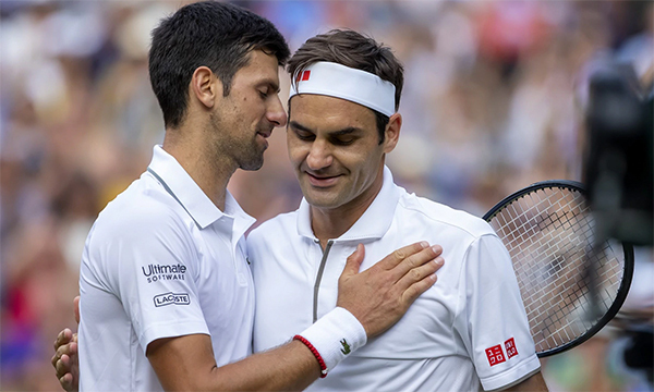 Phong cách hào hoa, lịch lãm của Federer đang dần thất thế trước sự góc cạnh ương bướng của Djokovic.