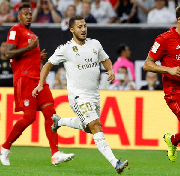 Hazard không còn thanh thoát và nhanh nhẹn như khi khoác áo Chelsea.