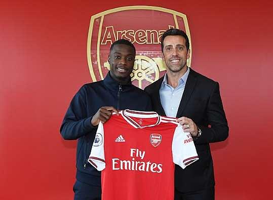 Edu bắt đầu gây ấn tượng mạnh bằng một loạt hợp đồng ngon, bổ, rẻ. Trong hình là Pepe - cầu thủ đắt nhất lịch sử Arsenal.