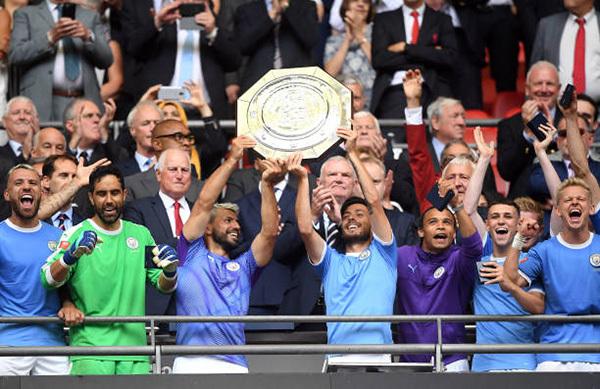 Man City lần thứ hai liên tiếp đoạt Siêu Cup Anh. Ảnh: PA.