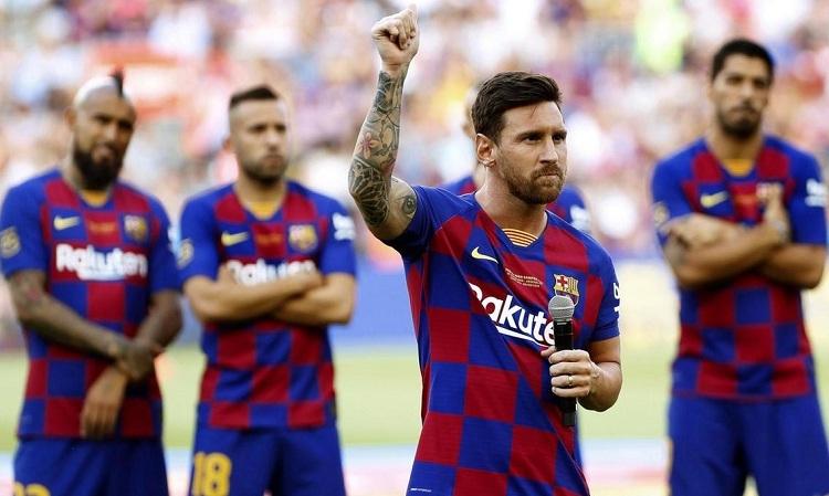 Messi muốn CĐV đánh giá cao hơn chức vô địch La Liga mà Barca giành được mùa trước. Ảnh: AFP.