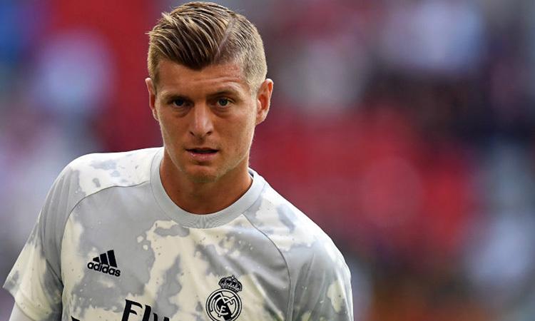 So với cách đây một năm, Kroos không còn duy trì được phong độ cao. Ảnh: Reuters.