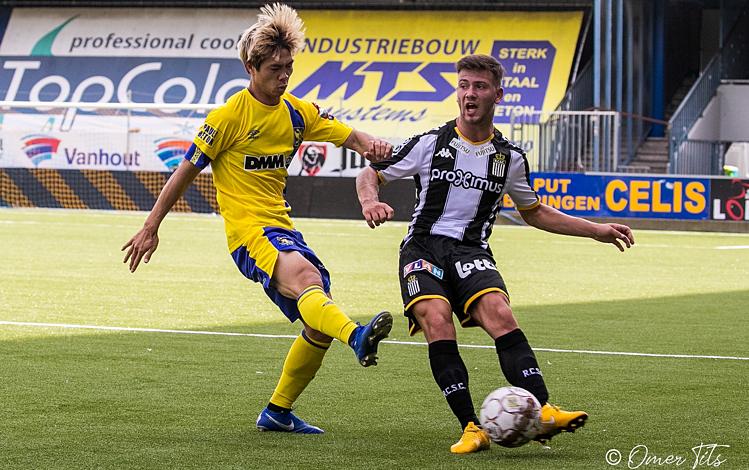 Công Phượng lần đầu góp công vào bàn thắng cho CLB Sint-Truiden. Ảnh: STVV.