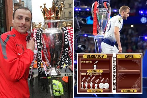 Berbatov giải được cơn khát danh hiệu sau khi rời Tottenham.