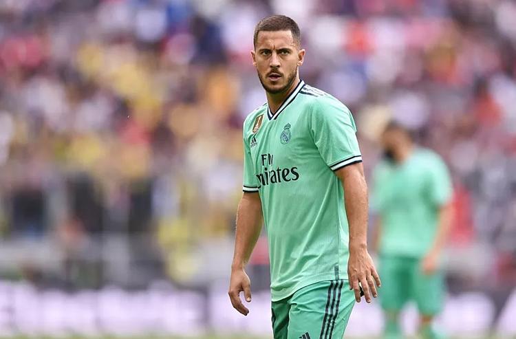 Hazard là trung tâm trong lối chơi của Real mùa giải tới. Ảnh:AFP.