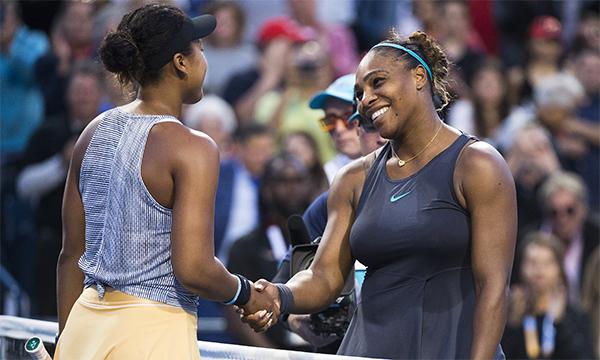 Serena (phải) tiếp tục nuôi hy vọng lần thứ tư vô địch WTA Rogers Cup, sau các lần đăng quang tại đây năm 2001, 2011, 2013.