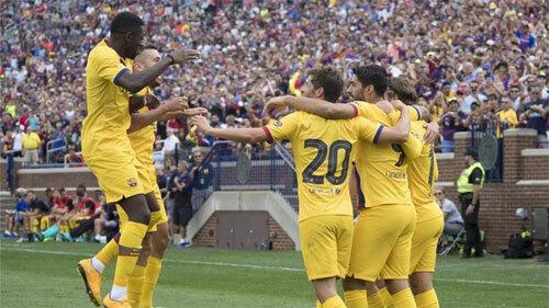 Barca thắng tưng bừng trước hàng vạn CĐV tại Mỹ.