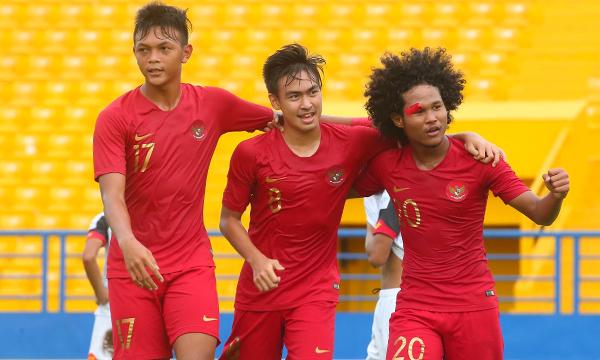 Indonesia giành vé đi tiếp sớm một lượt trận, nhưng trải qua trận cầu khó khăn nhất từ đầu giải U18 Đông Nam Á năm nay. Ảnh: Kỳ Lân.
