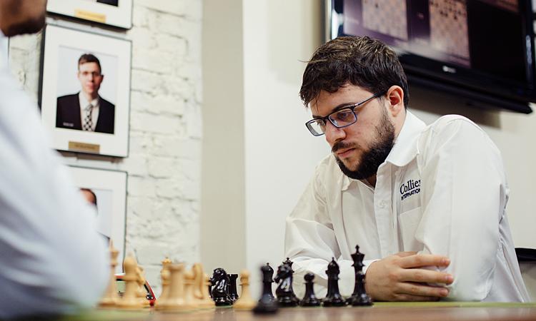 Vachier-Lagrave tiếp tục thể hiện sức mạnh ở cờ tốc độ, trong khi Carlsen mất phong độ. Ảnh: GCT.