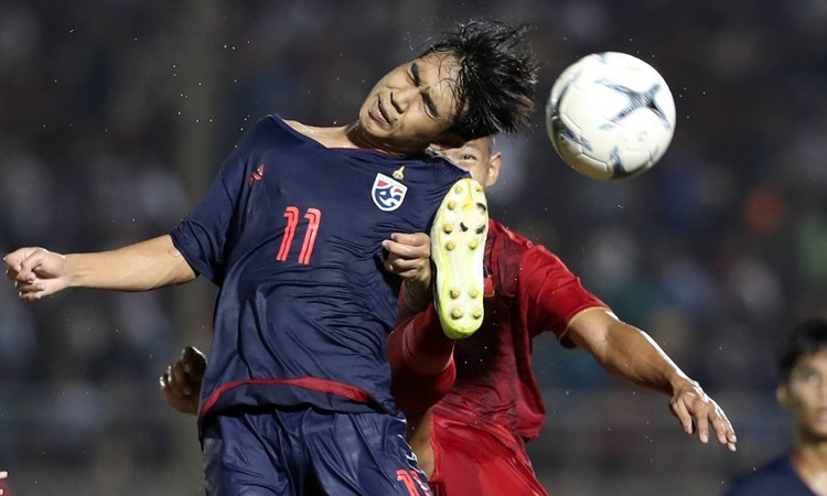 Thái Lan (áo xanh) chưa thắng trận nào ở giải U18 Đông Nam Á 2019. Ảnh: Đức Đồng.