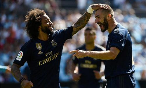 Benzema và Marcelo vẫn giữ vai trò quan trọng. Ảnh: Reuters