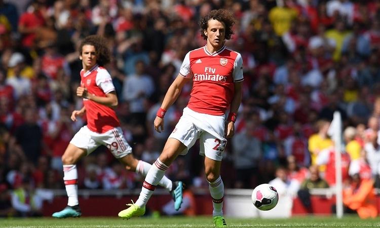 Luiz trong trận ra mắt Arsenal vào cuối tuần vừa qua. Ảnh: Reuters.