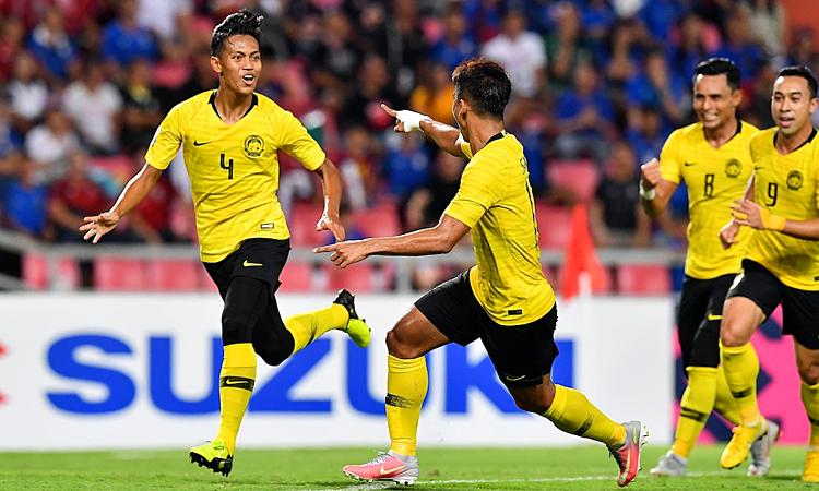 Malaysia sử dụng bộ khung ở AFF Cup cho vòng loại World Cup 2022. Ảnh: Fox Sports.