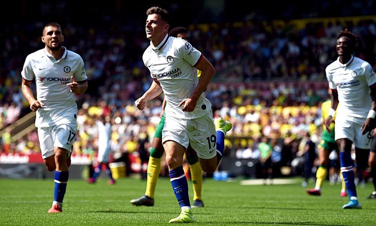 Các cầu thủ trẻ Chelsea tỏa sáng ở chiến thắng tại Norwich. Ảnh: PA.